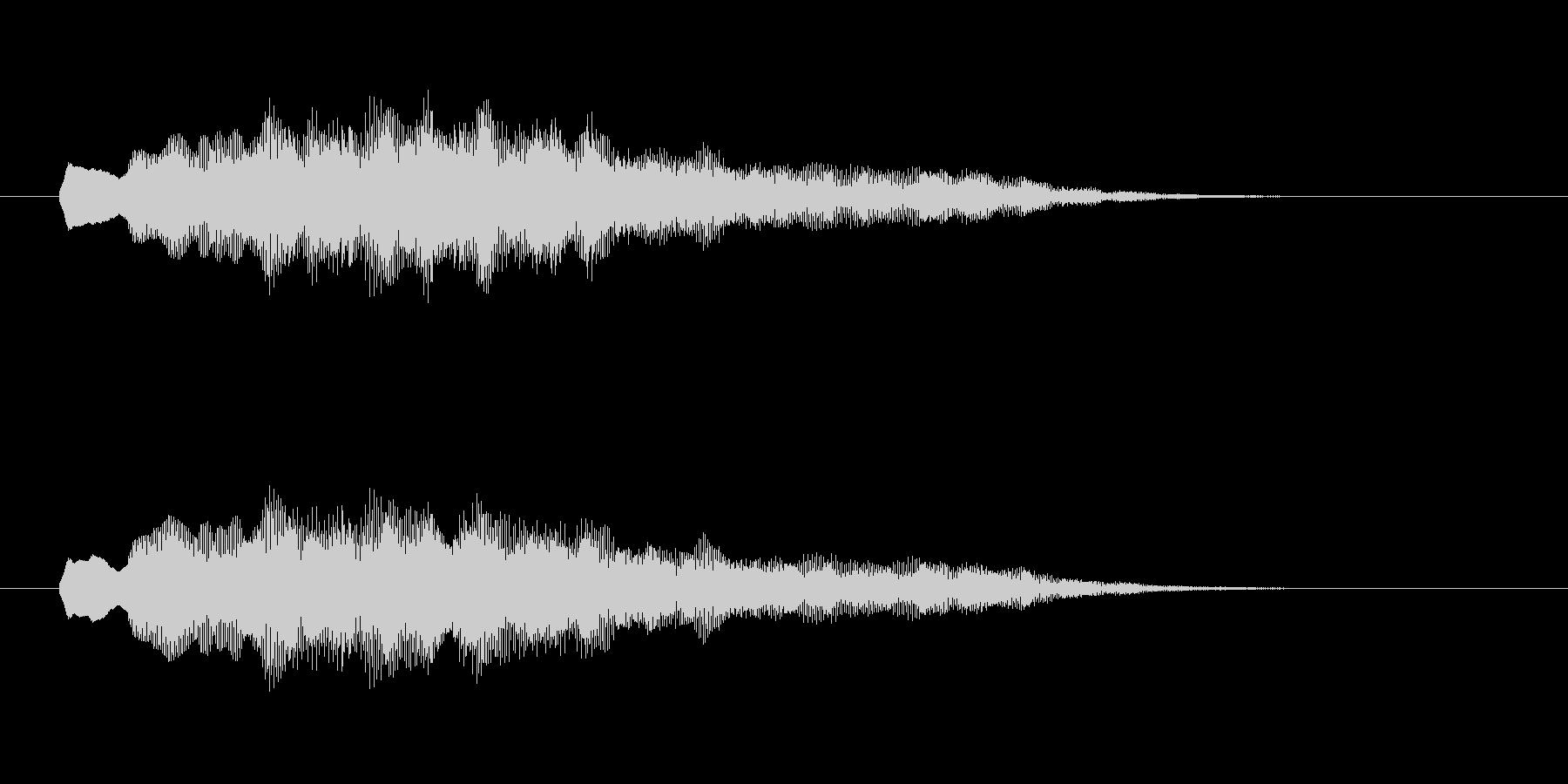 優しく柔らかいシンセ音(夢、神秘的)の未再生の波形
