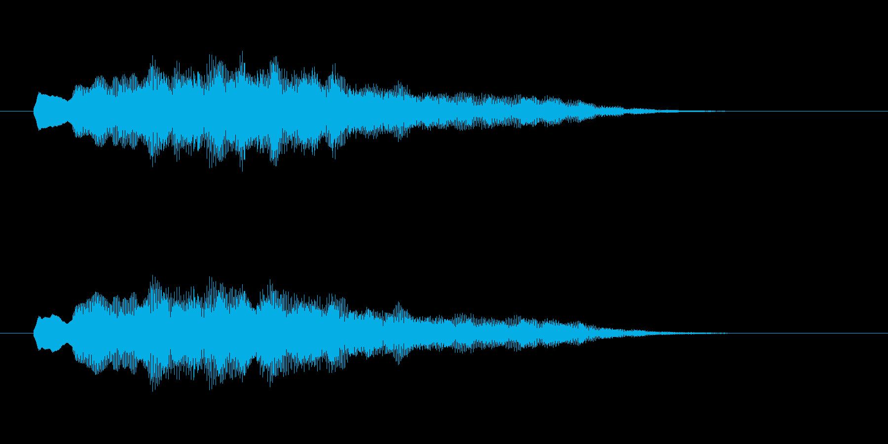 優しく柔らかいシンセ音(夢、神秘的)の再生済みの波形