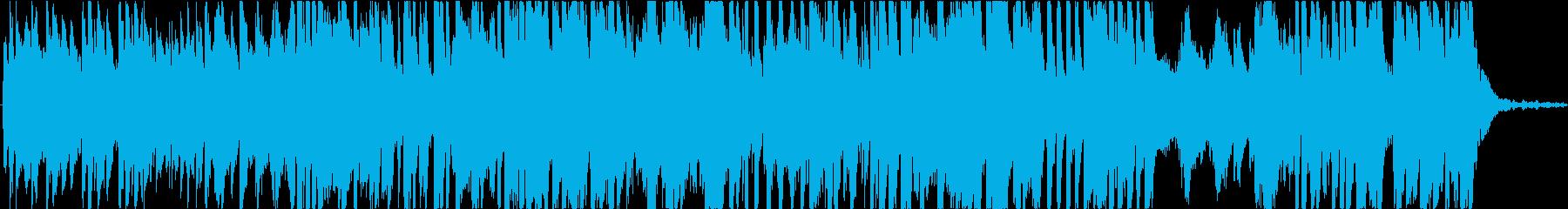 現代音楽風、高速ピアノ曲、音少なめの再生済みの波形
