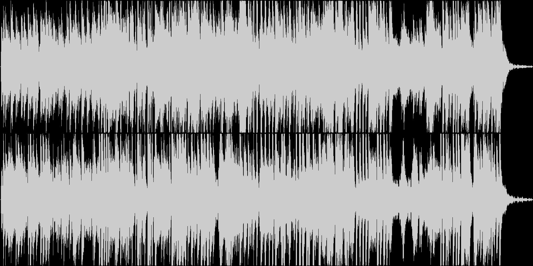 現代音楽風、高速ピアノ曲、音少なめの未再生の波形