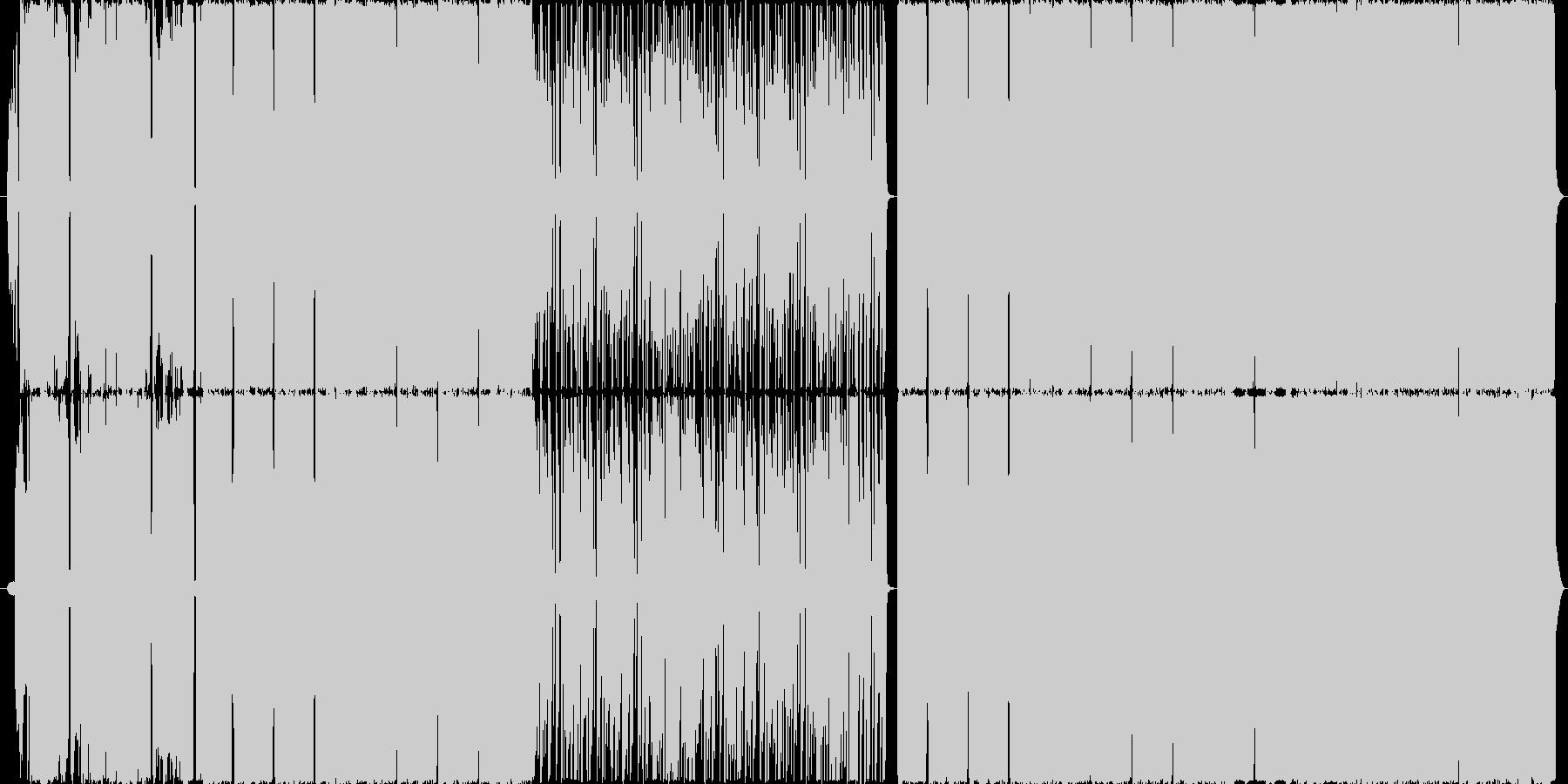 オルタナギターロック/戦闘FPSバトルの未再生の波形