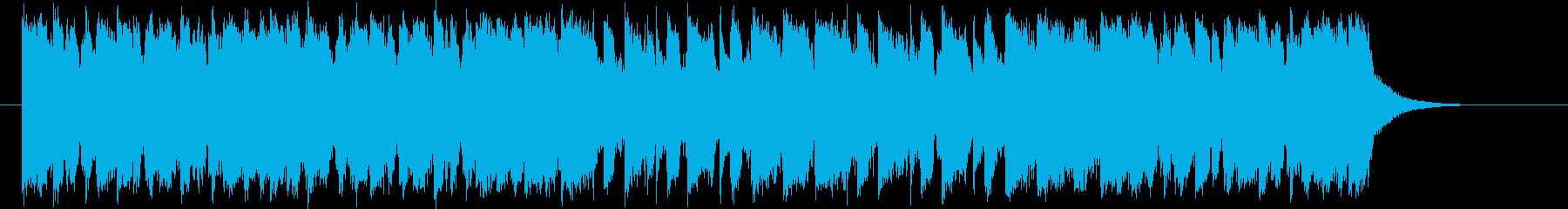 チャールストンのようなポップ曲の再生済みの波形