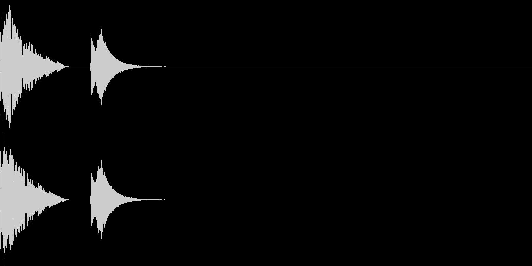 Click ユニークなクリック音の未再生の波形