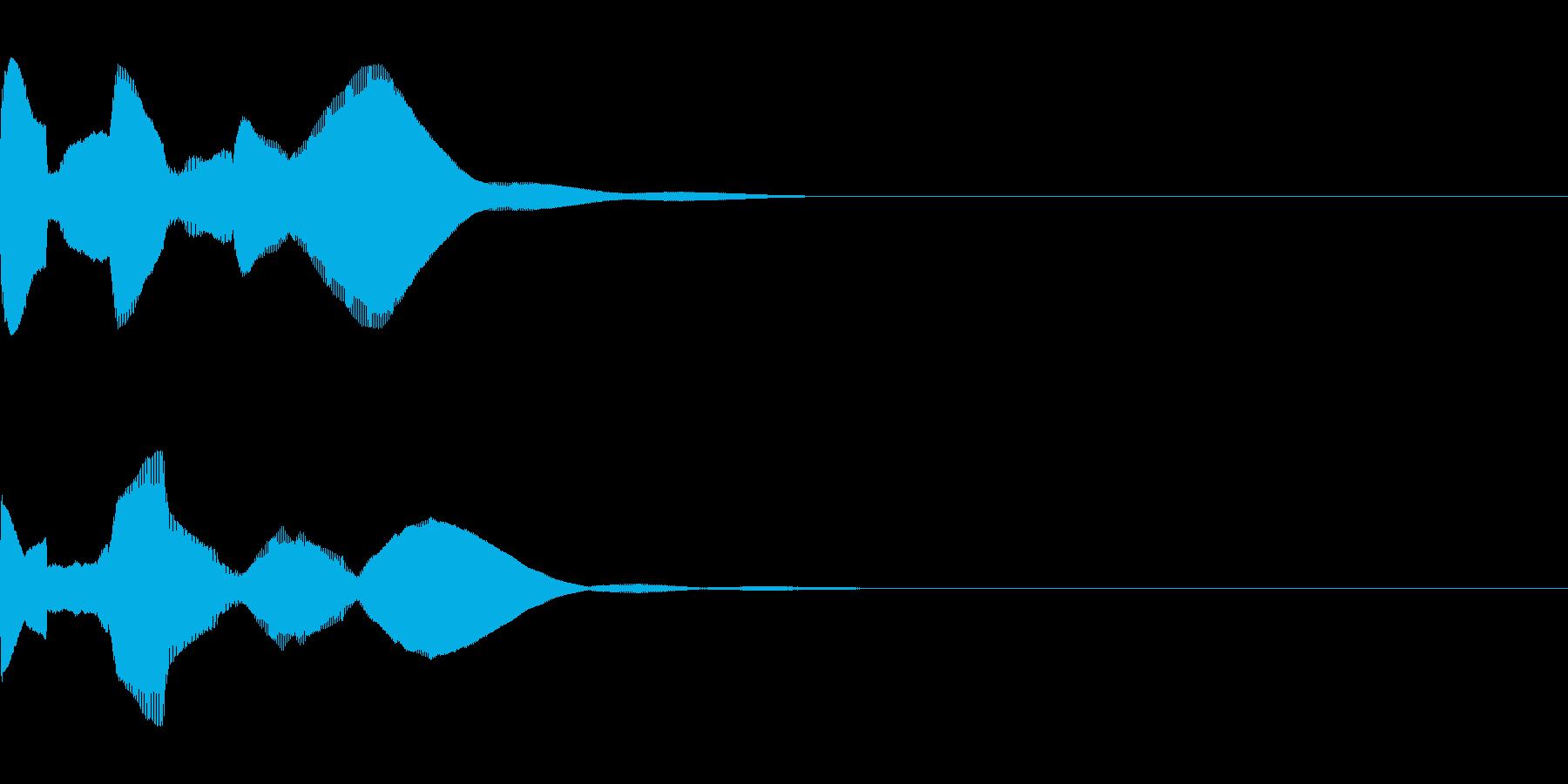 システム系ログオフ音の再生済みの波形