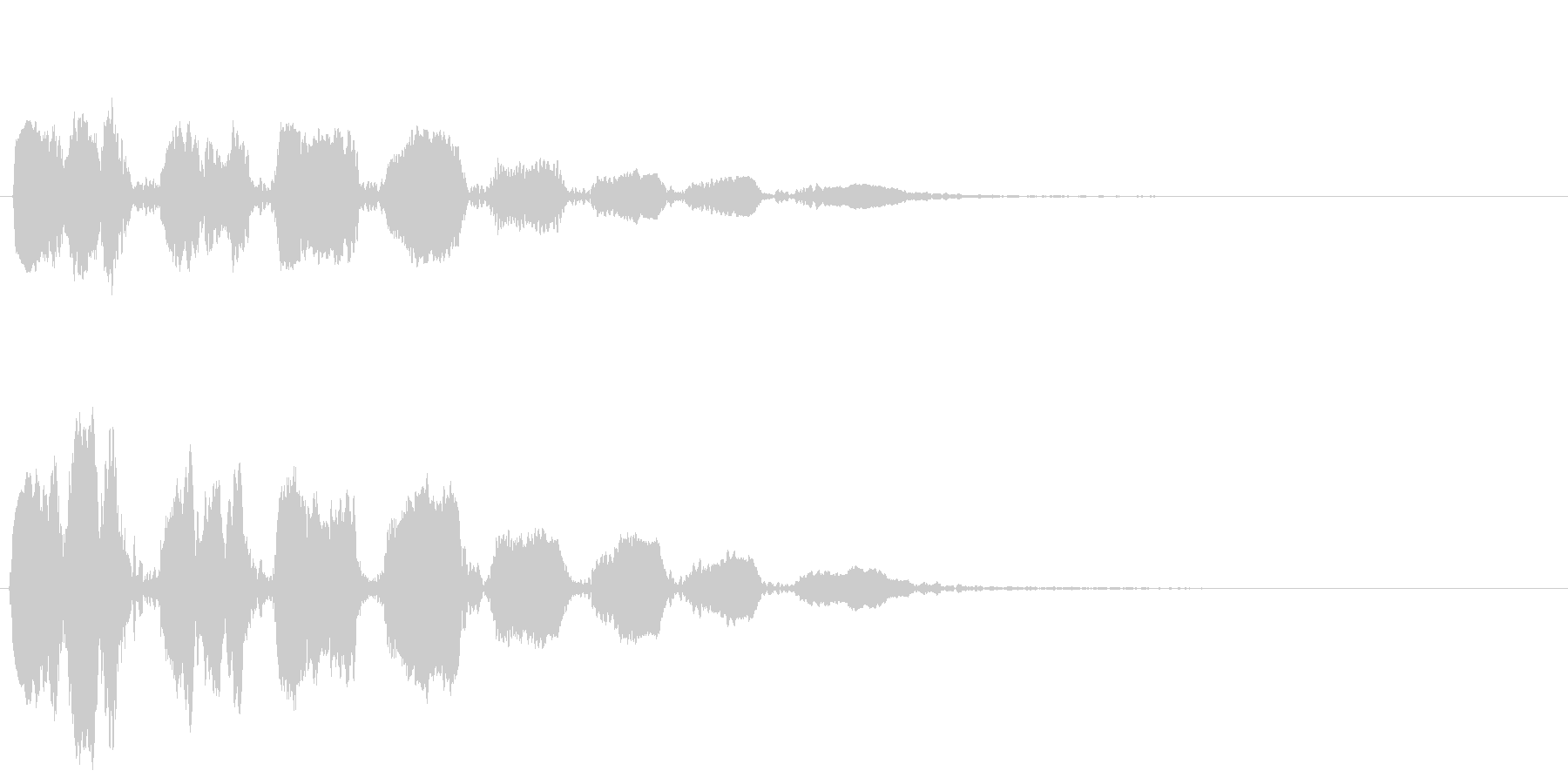 おばけ ひゅうひゅうひゅうひゅうの未再生の波形