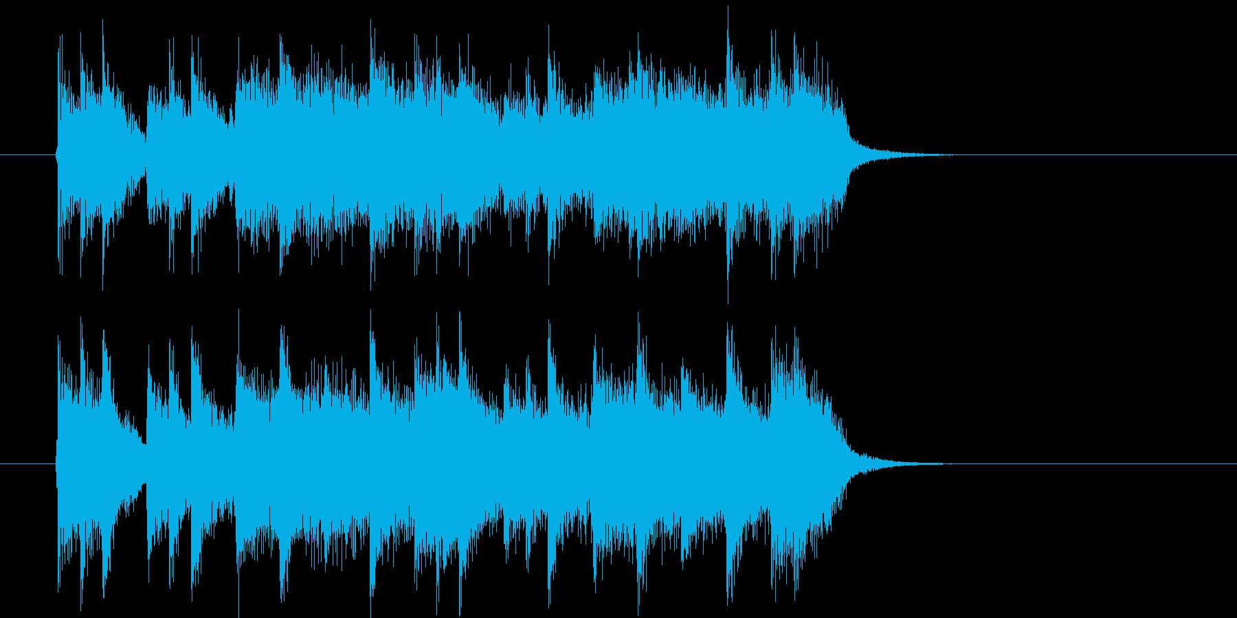 エレキギターがかっこいいロックの再生済みの波形