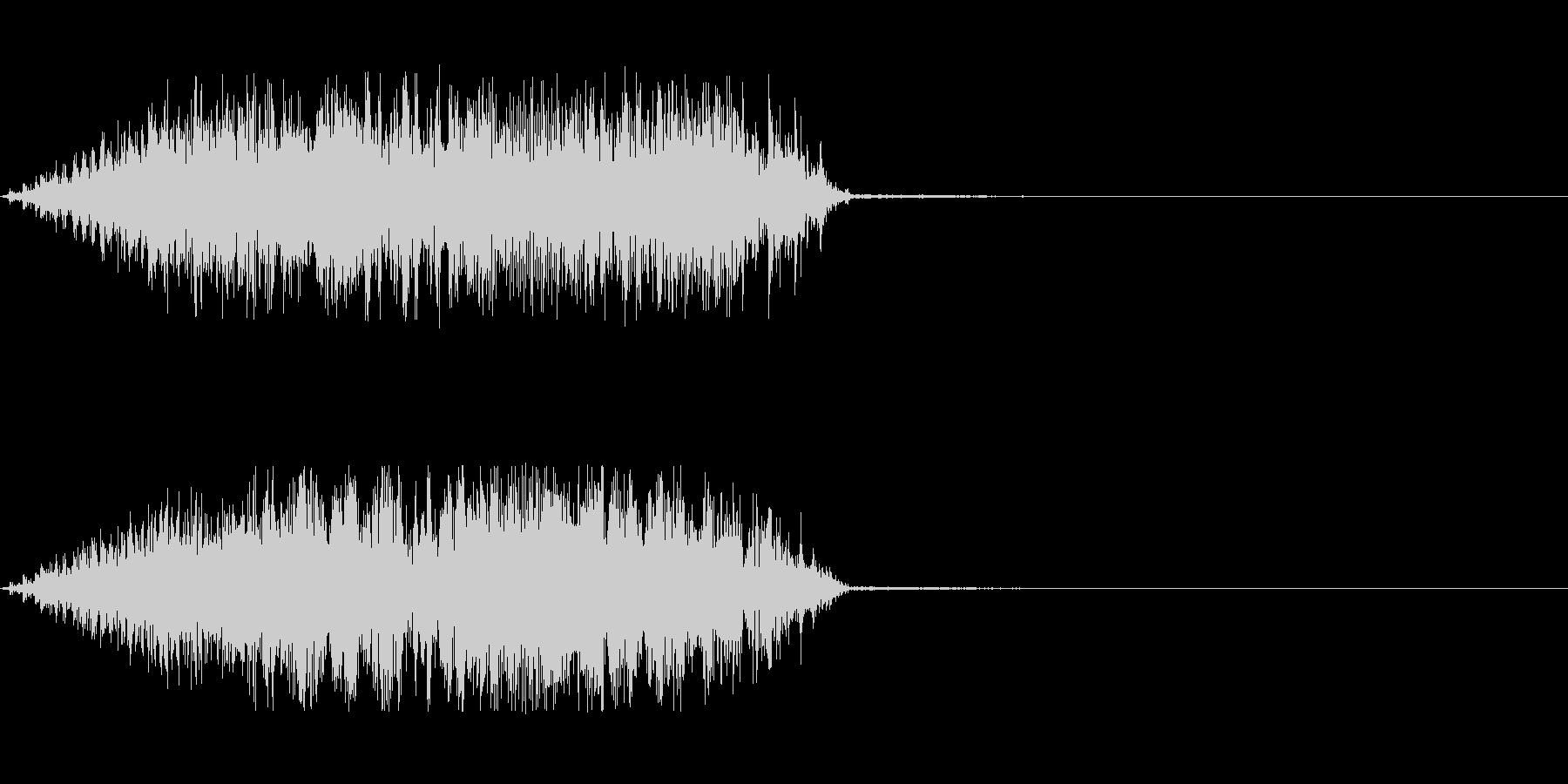軋むドアの音の未再生の波形