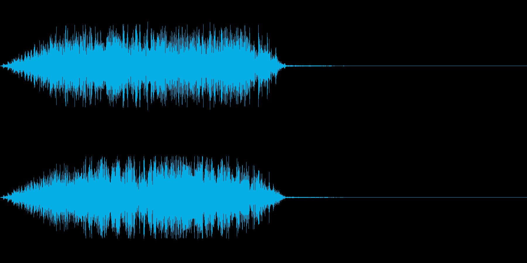 軋むドアの音の再生済みの波形