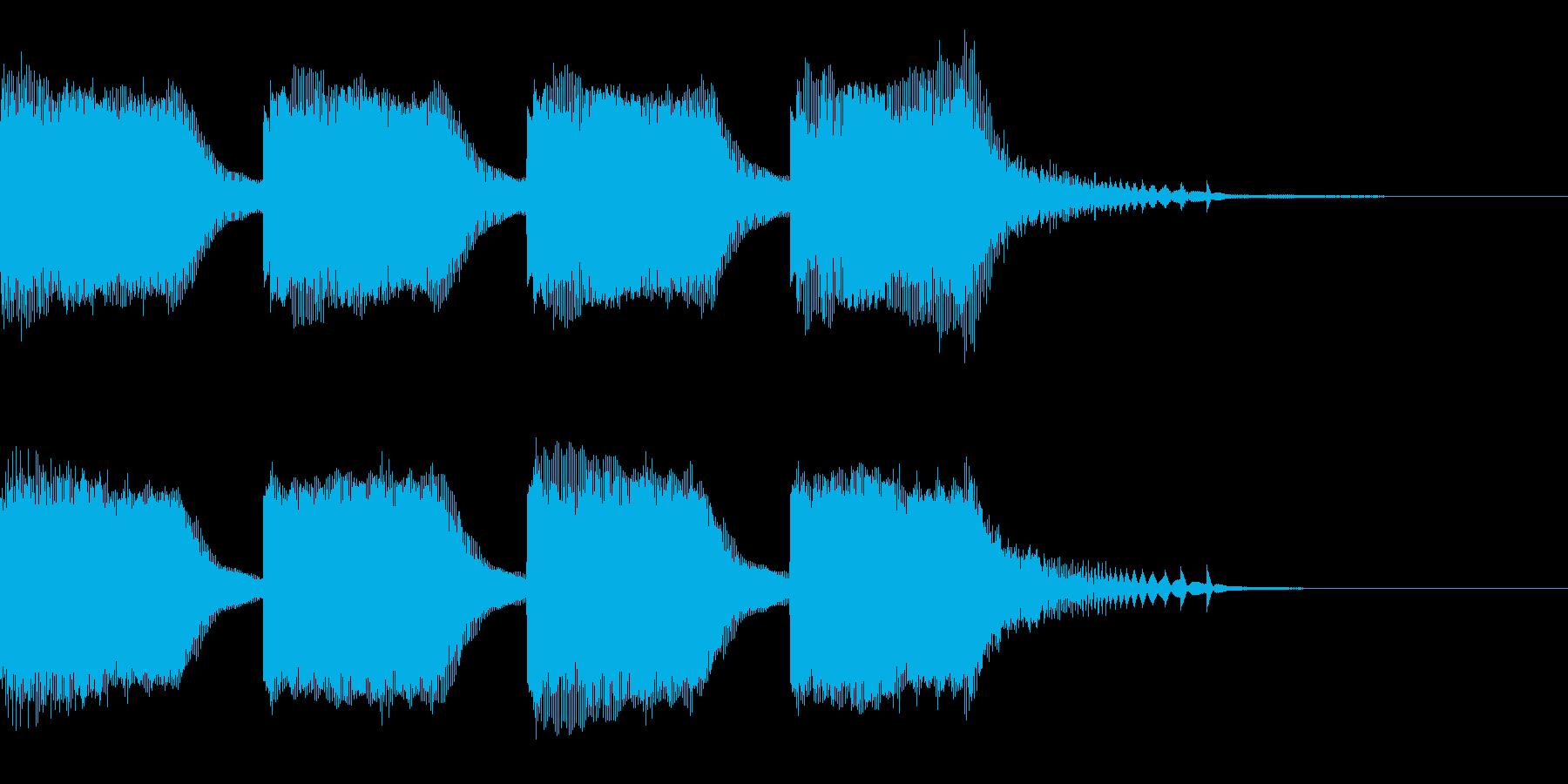 エラー・警告音の再生済みの波形