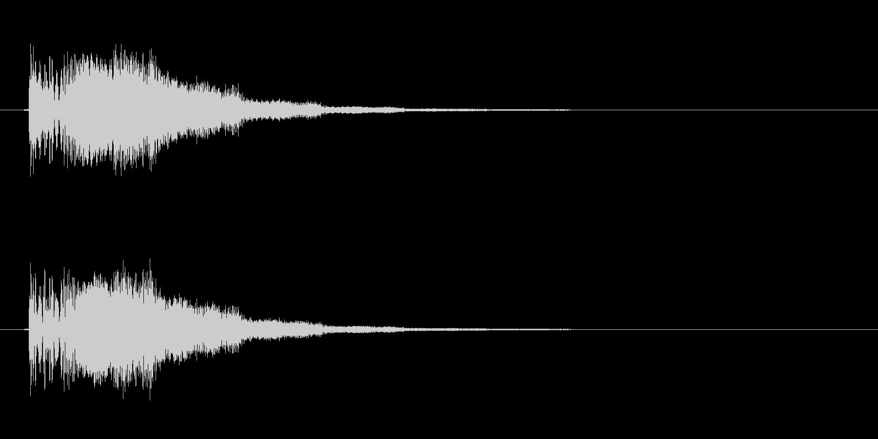 ボタン音 クリック音 ピコン ポヨンの未再生の波形