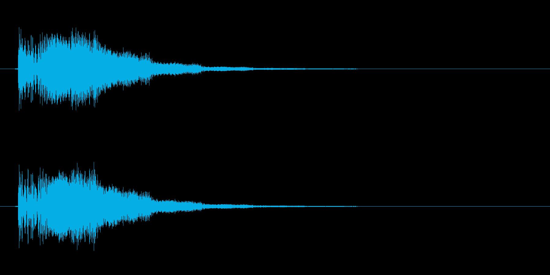 ボタン音 クリック音 ピコン ポヨンの再生済みの波形