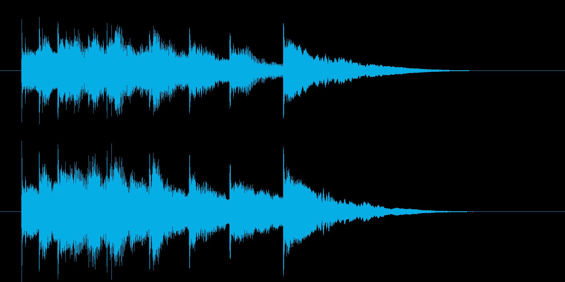 琴の音色の再生済みの波形