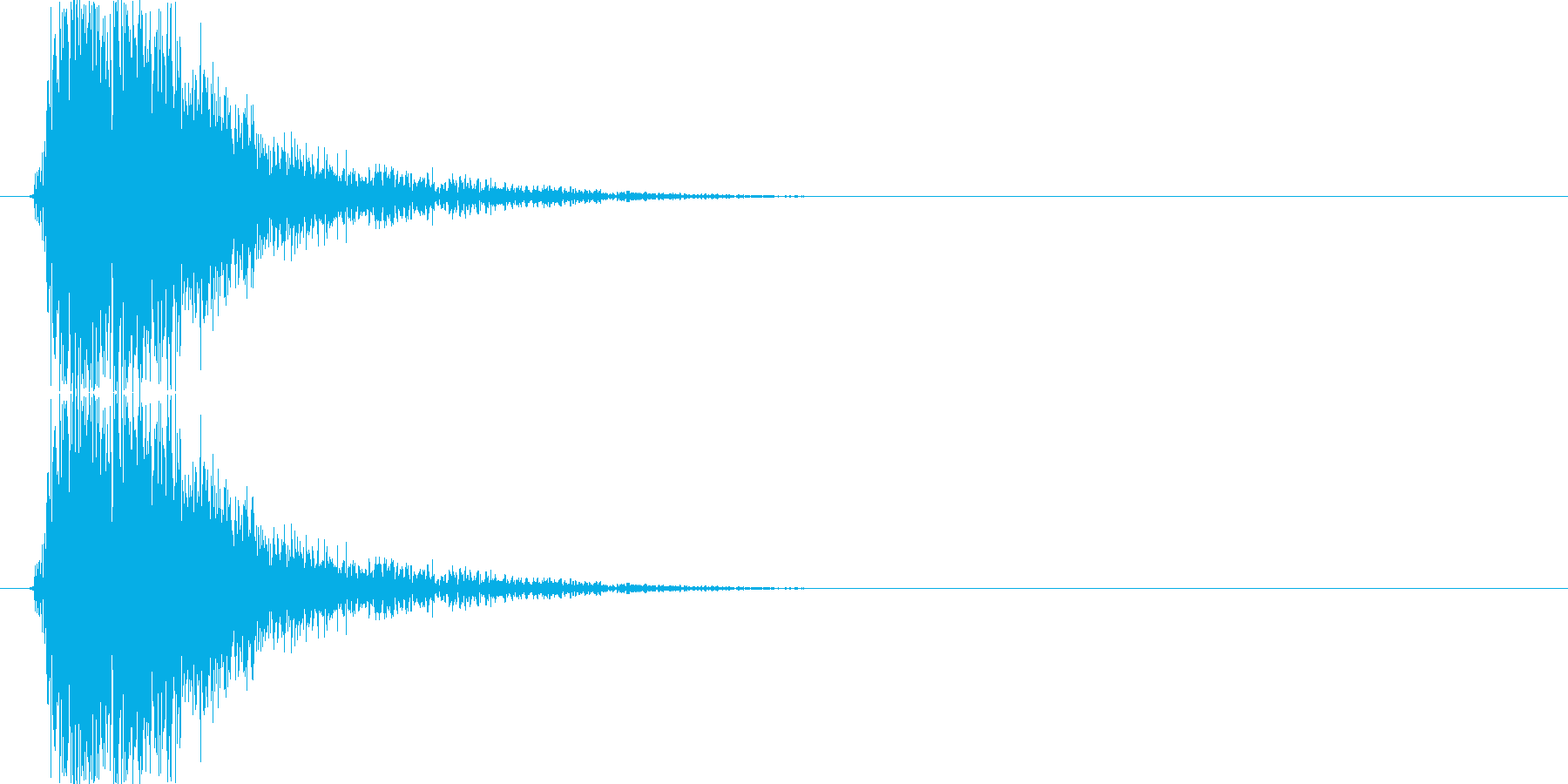 シュヨヨヨヨッ(ショット音、弱め)の再生済みの波形