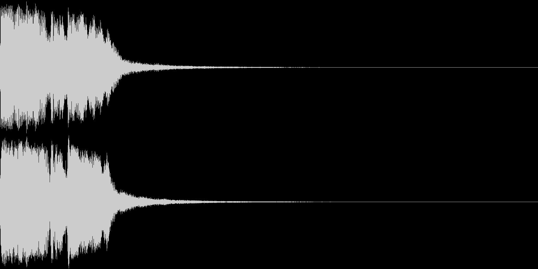 ファンファーレ 当たり 正解 合格 08の未再生の波形