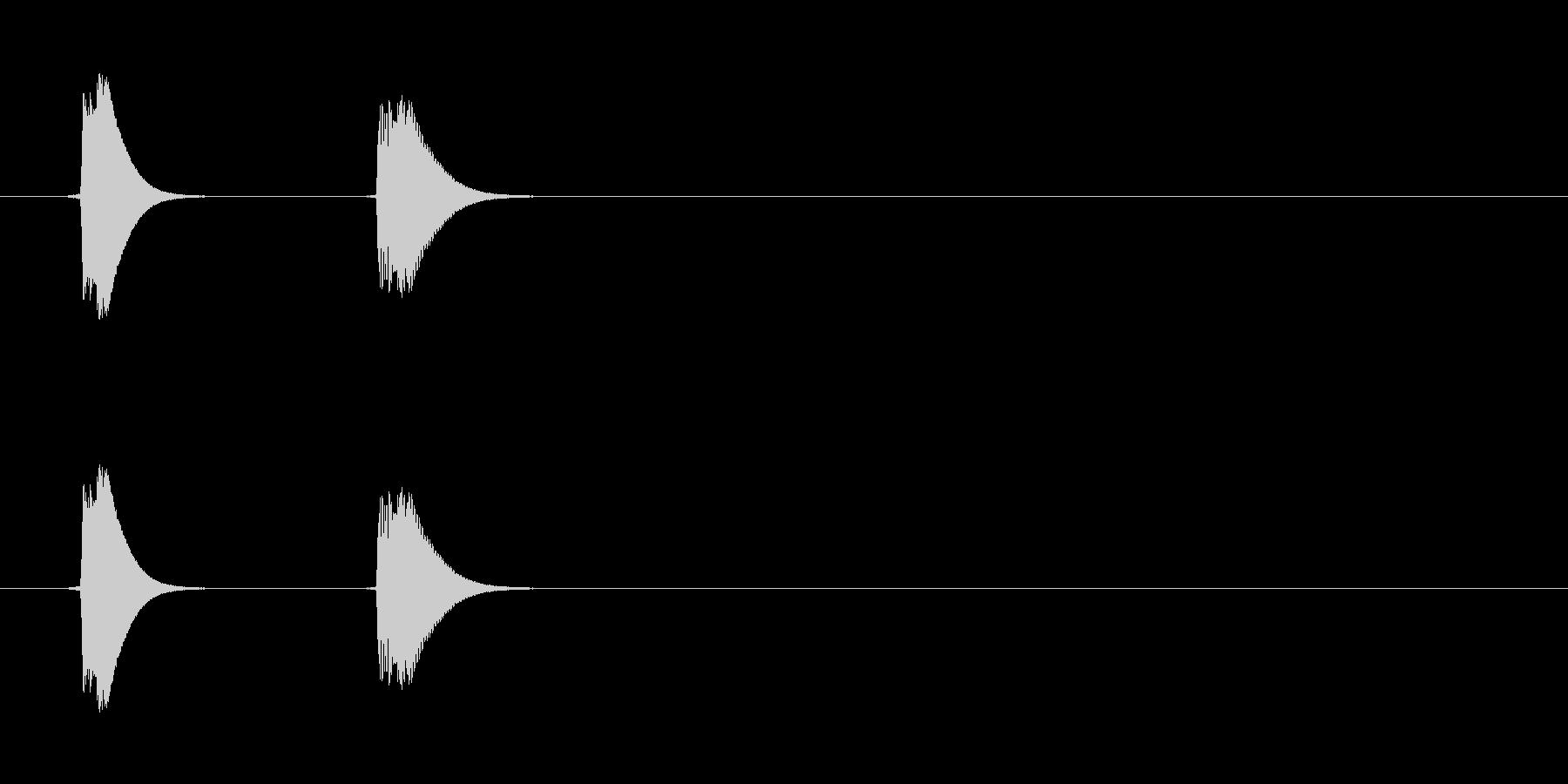 ぺこっ(通知、アプリ、お知らせ)の未再生の波形
