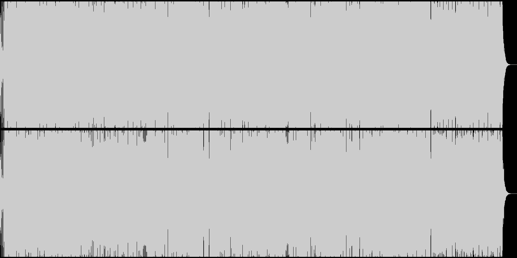遅く起きた朝にバンドサウンドの未再生の波形