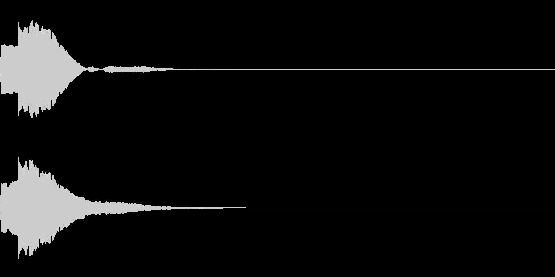 決定音71_シンセAIの未再生の波形