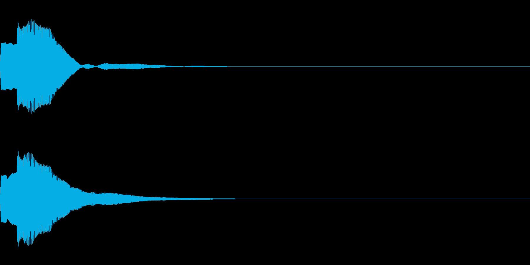 決定音71_シンセAIの再生済みの波形
