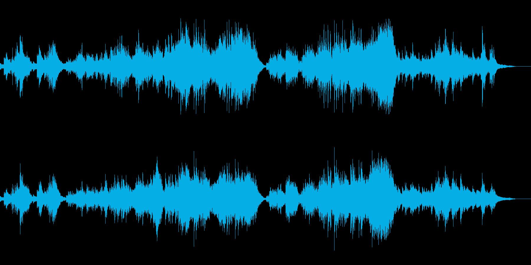 バイオリンとピアノが印象的な映像音楽の再生済みの波形