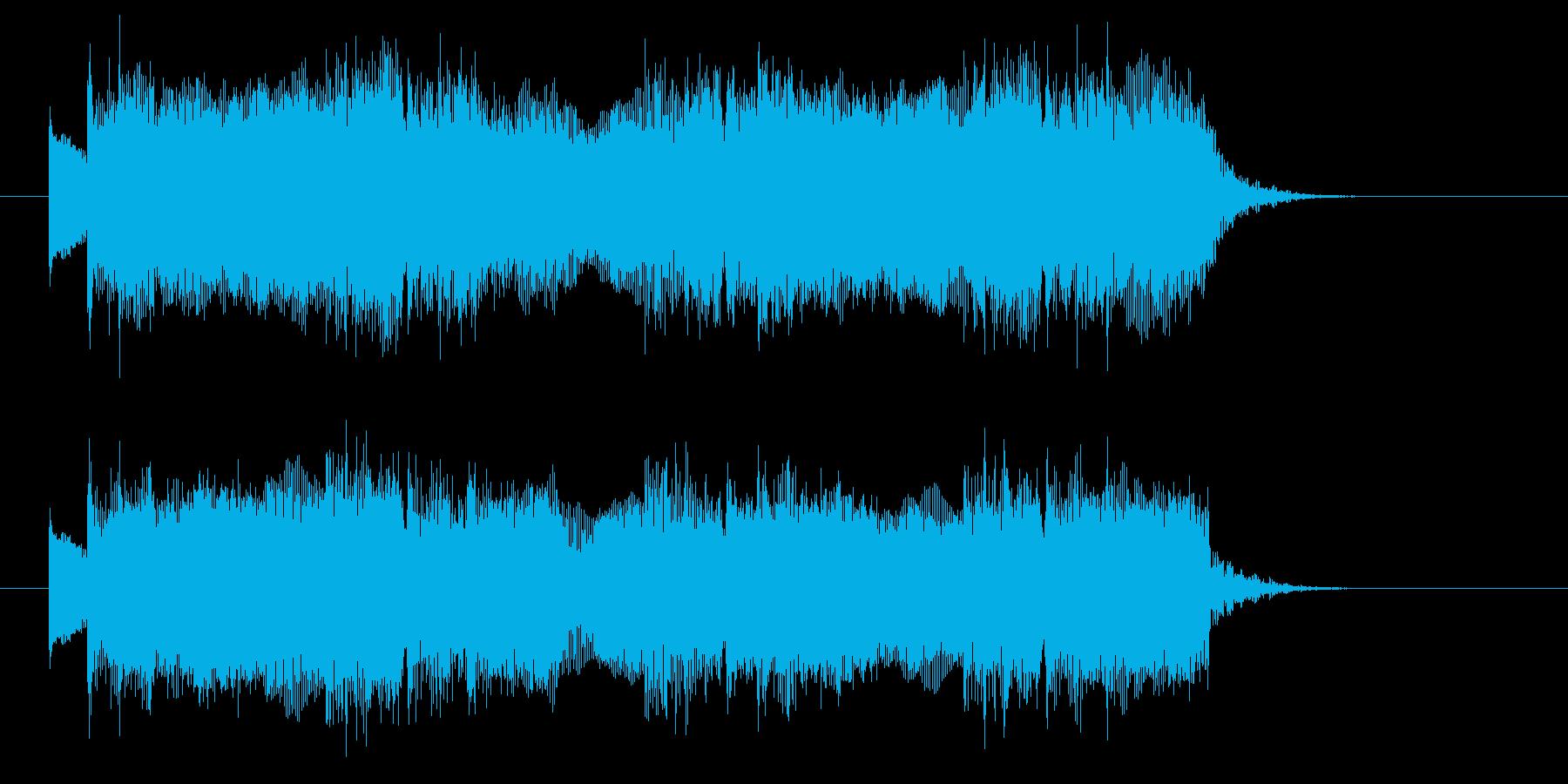 クールでヘビーなドラムとエレキジングルの再生済みの波形