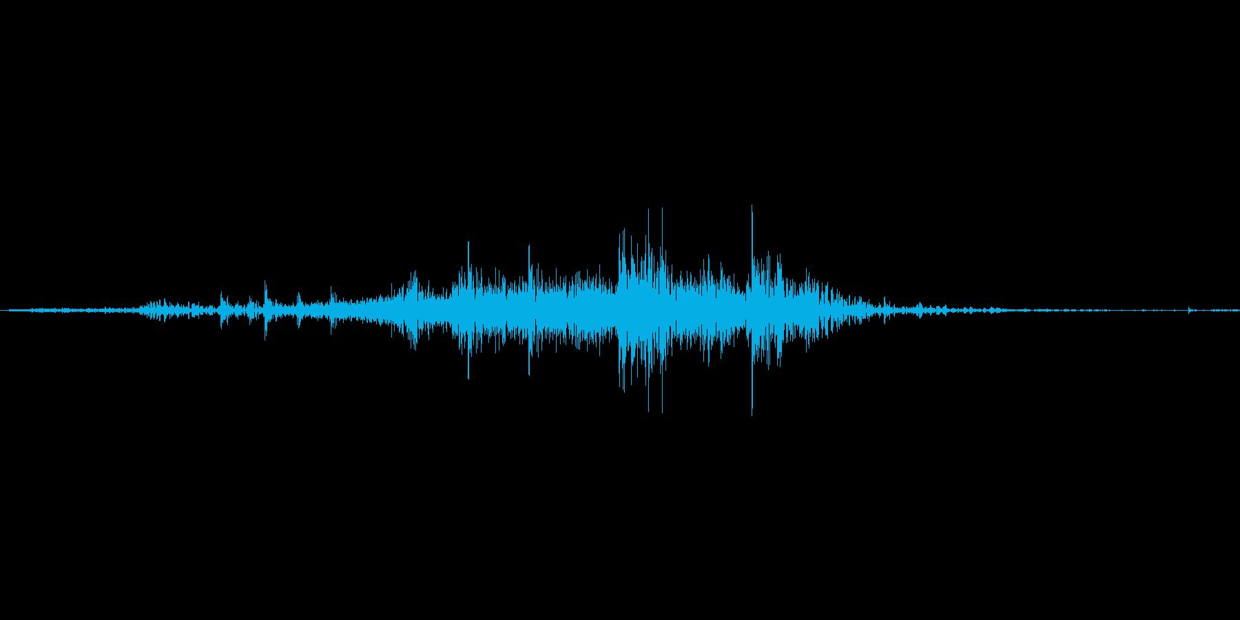 【wav】封筒に書類を出入れする音_03の再生済みの波形