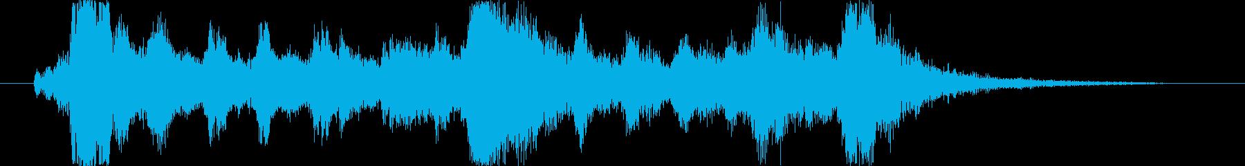 交響曲風なインパクトのある勇ましい曲の再生済みの波形
