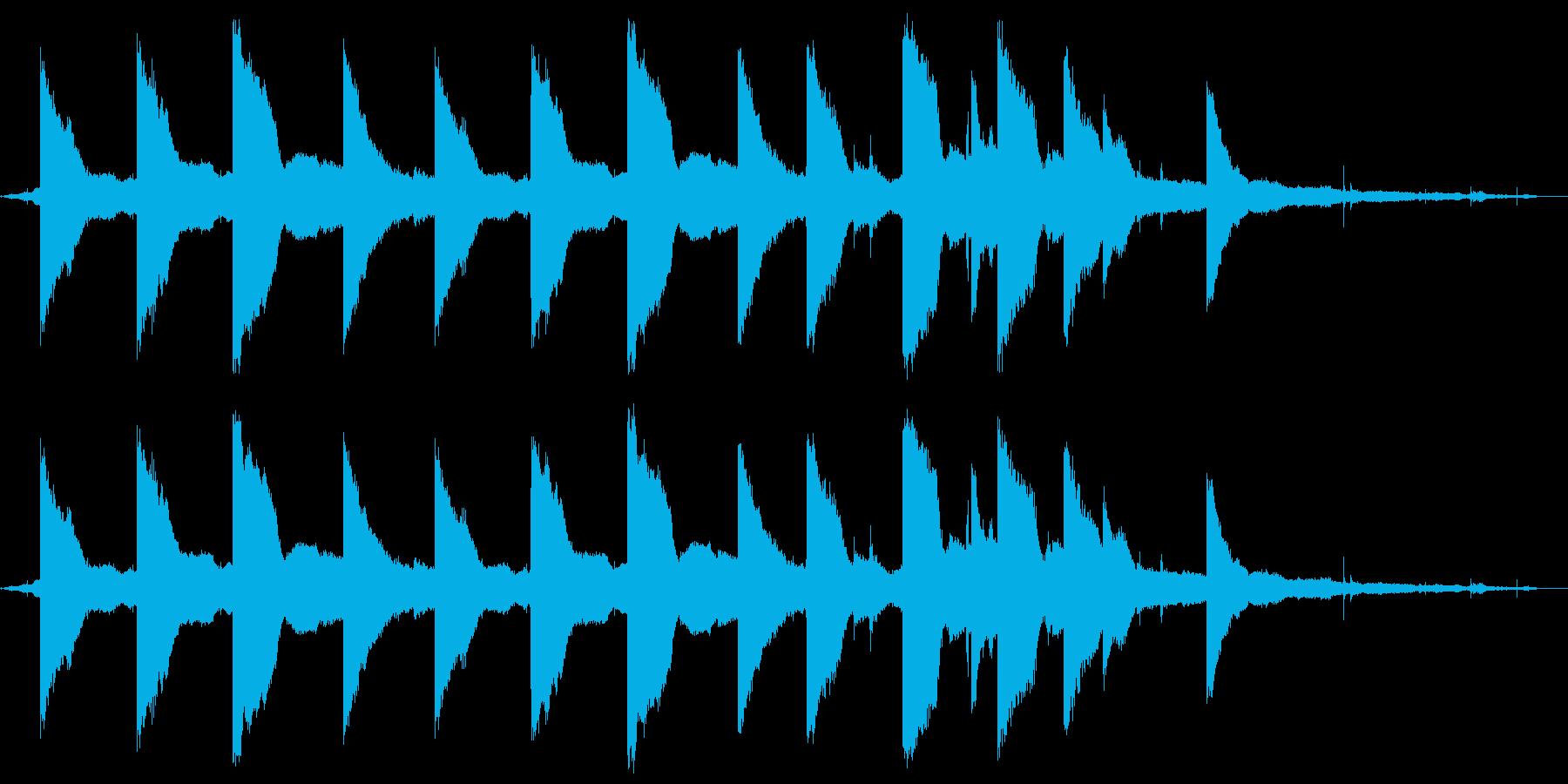 神戸・ルミナリエ会場の鐘の音ですの再生済みの波形