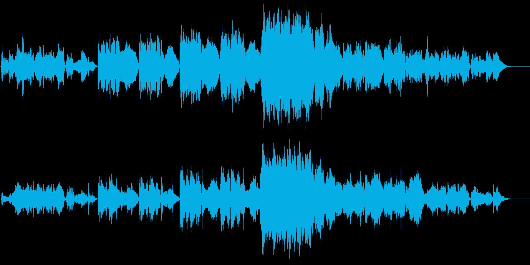 涼しげなオーケストラの再生済みの波形