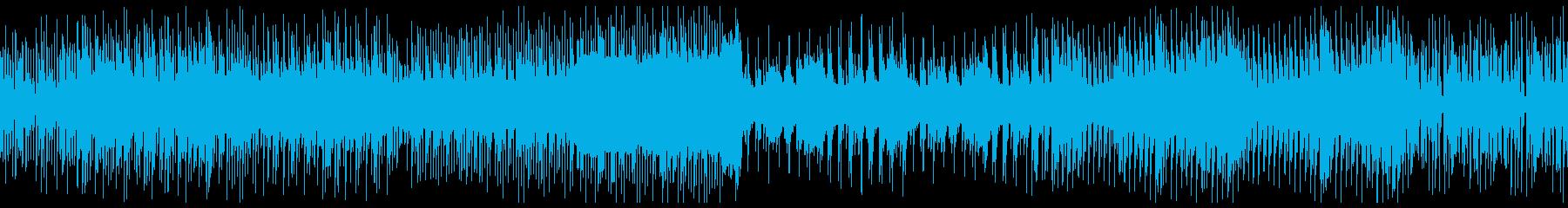 ノリの良いチップチューンのループの再生済みの波形