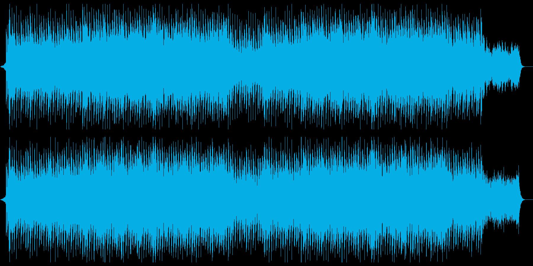 爽やかでワクワク感のあるシンセサウンドの再生済みの波形