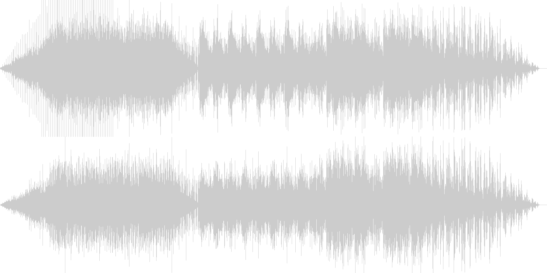 IDM風、グリッチなテクノの未再生の波形
