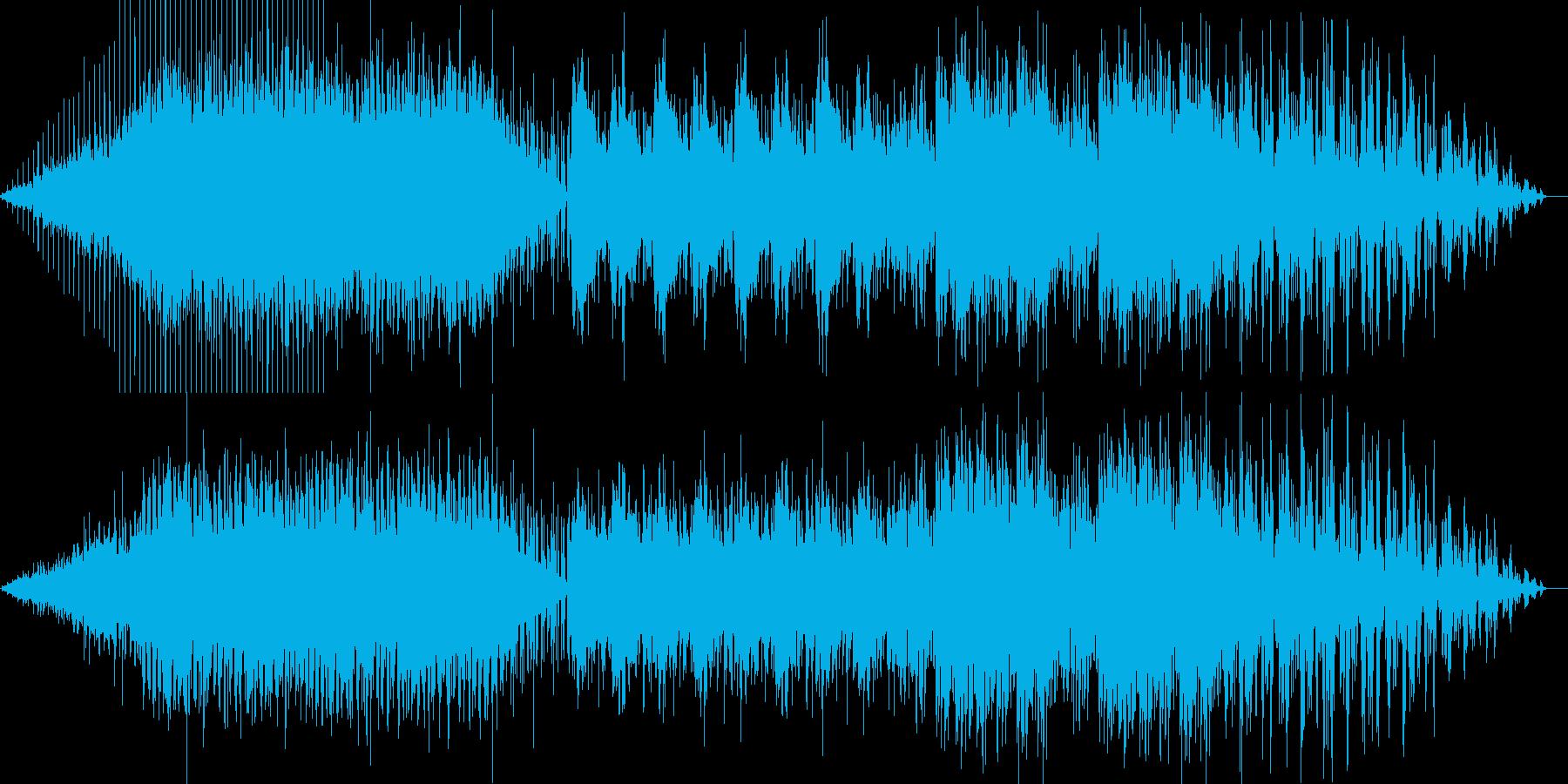 IDM風、グリッチなテクノの再生済みの波形