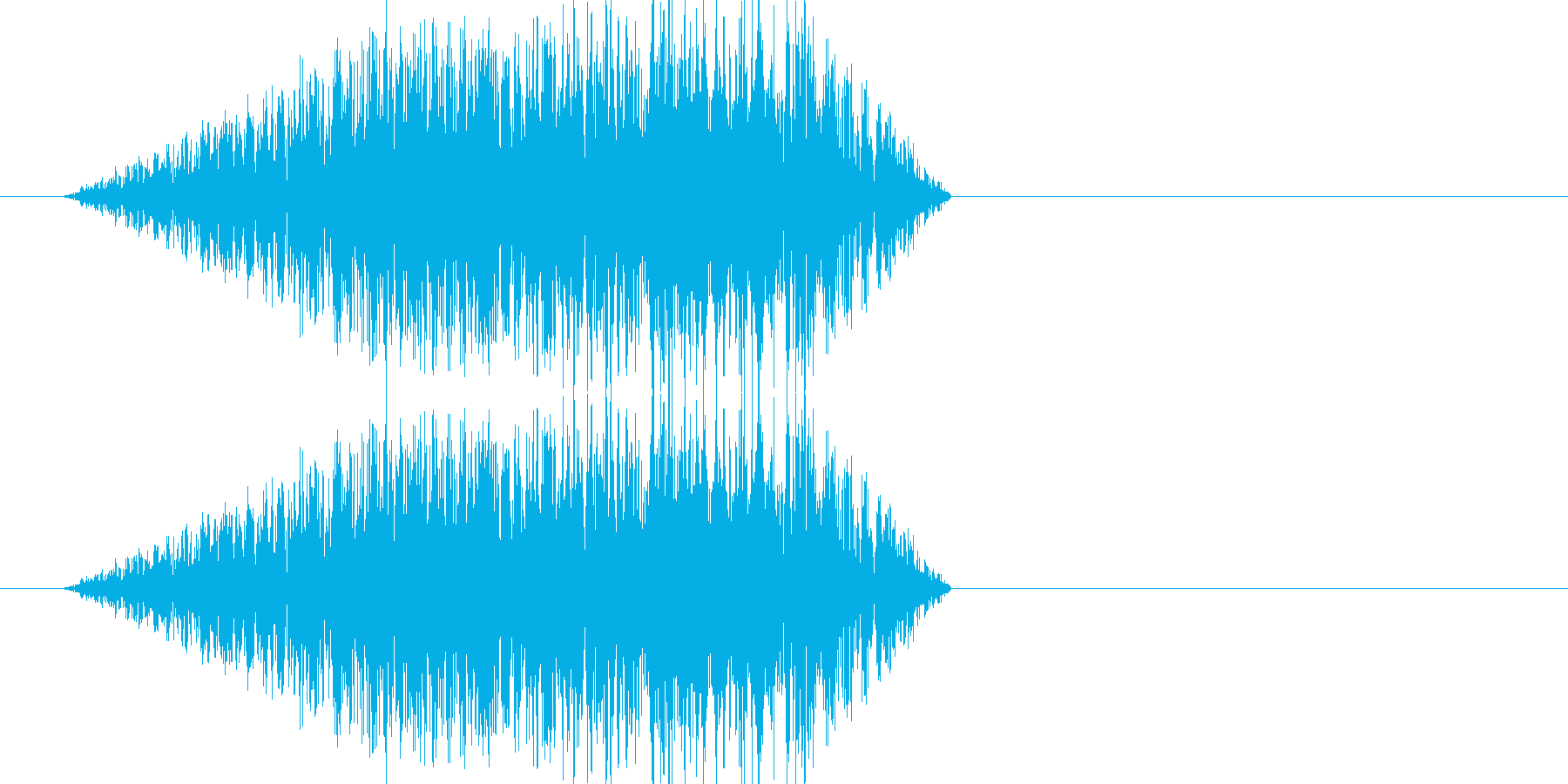 ブラッシュアップされたホワイトノイズ音の再生済みの波形