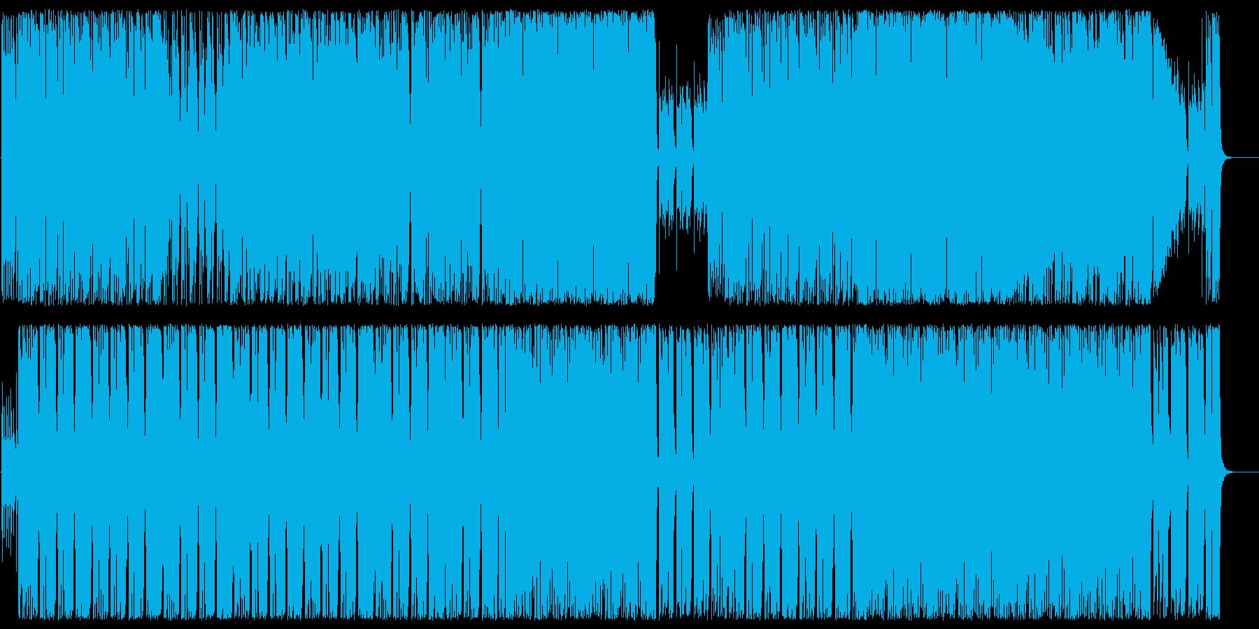 メローでクールなエレキロックサウンドの再生済みの波形