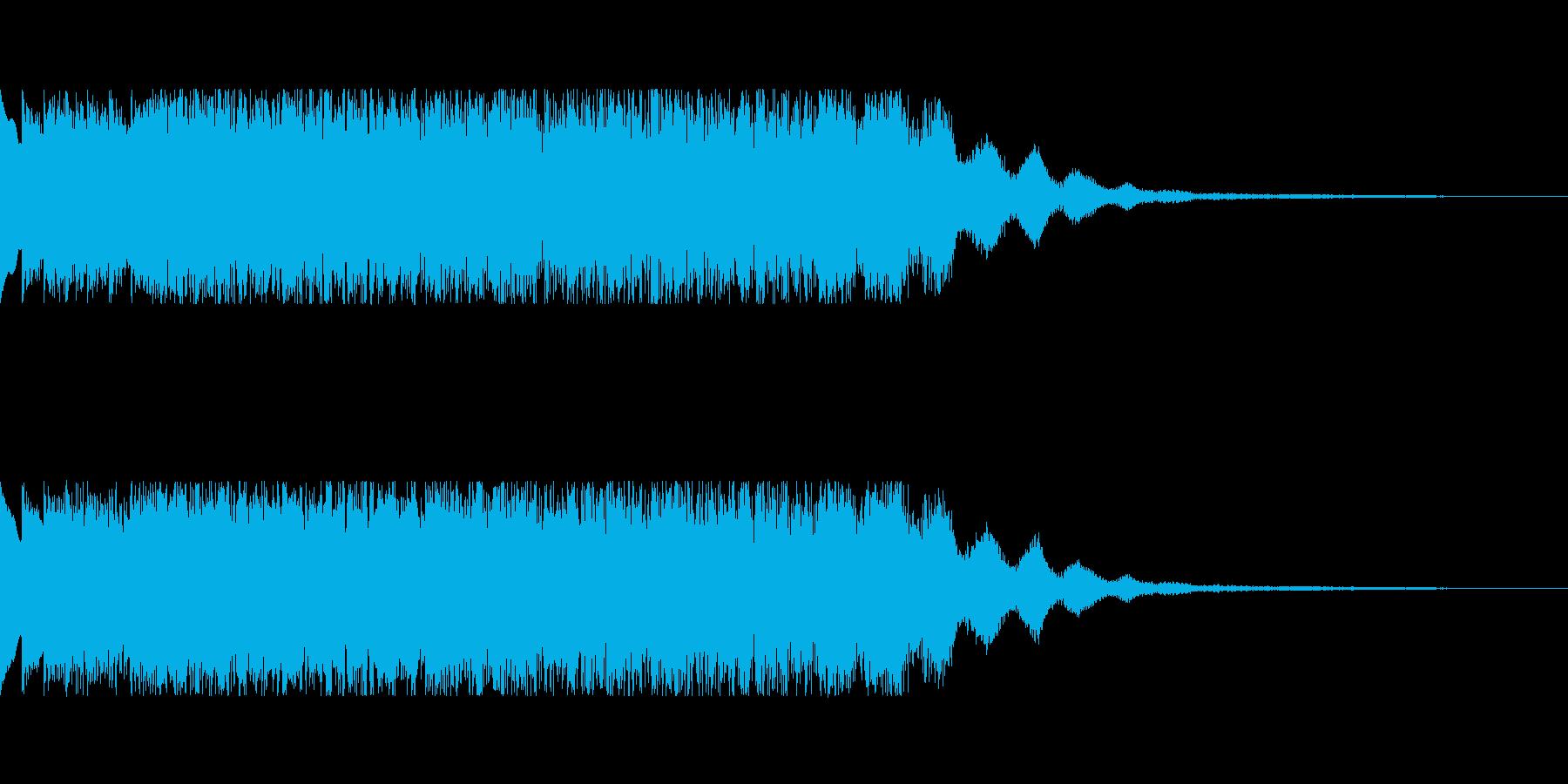 発車メロディ風2の再生済みの波形