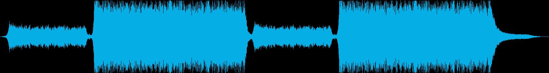 映画のCMの様な緊迫感のある楽曲の再生済みの波形