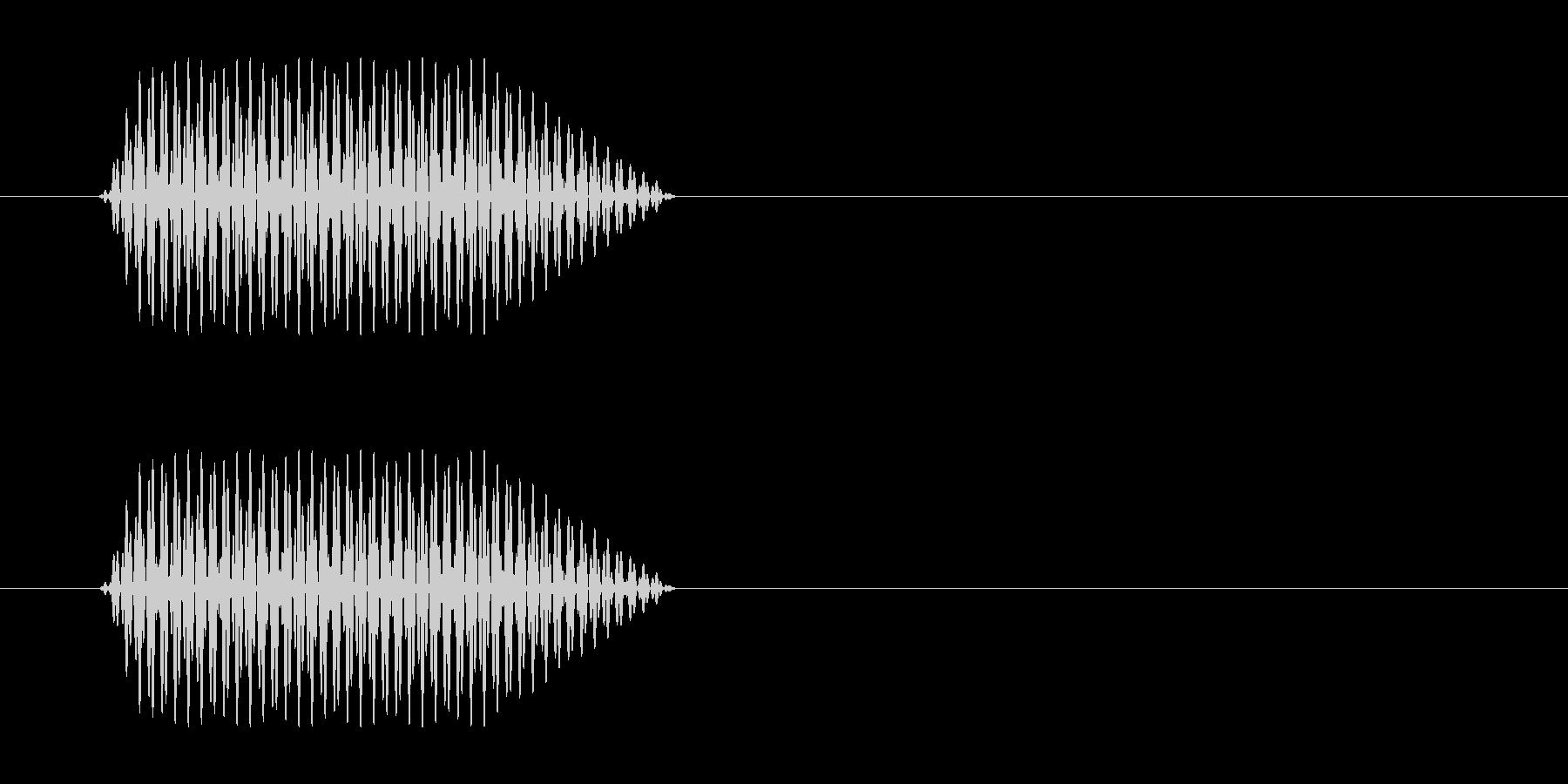 ソの音がする心電図の効果音の未再生の波形