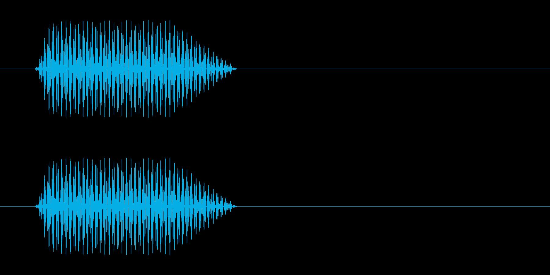 ソの音がする心電図の効果音の再生済みの波形
