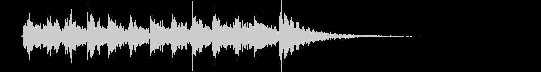 生演奏:軽快感のあるピチカート&ピアノの未再生の波形