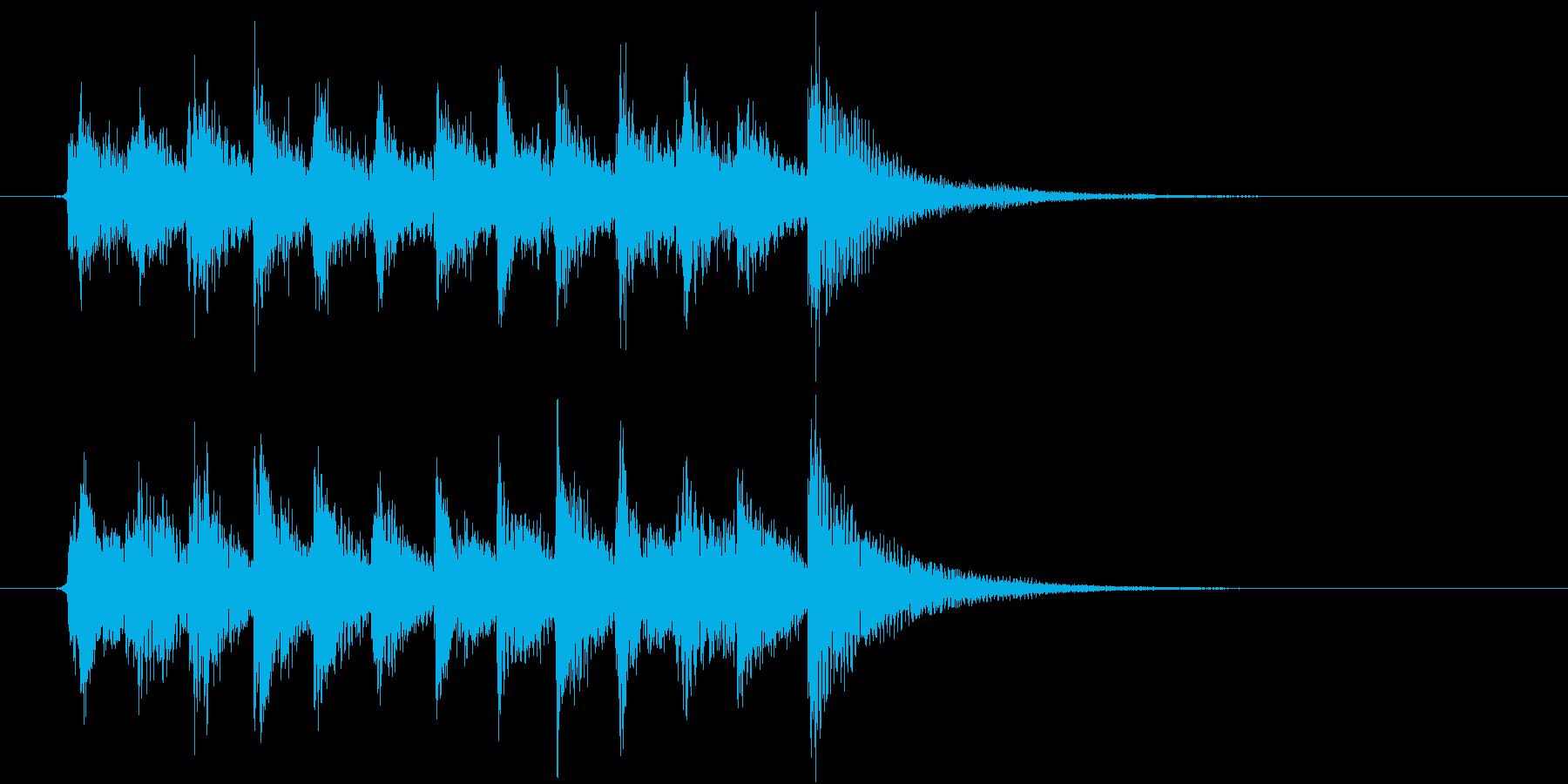 生演奏:軽快感のあるピチカート&ピアノの再生済みの波形