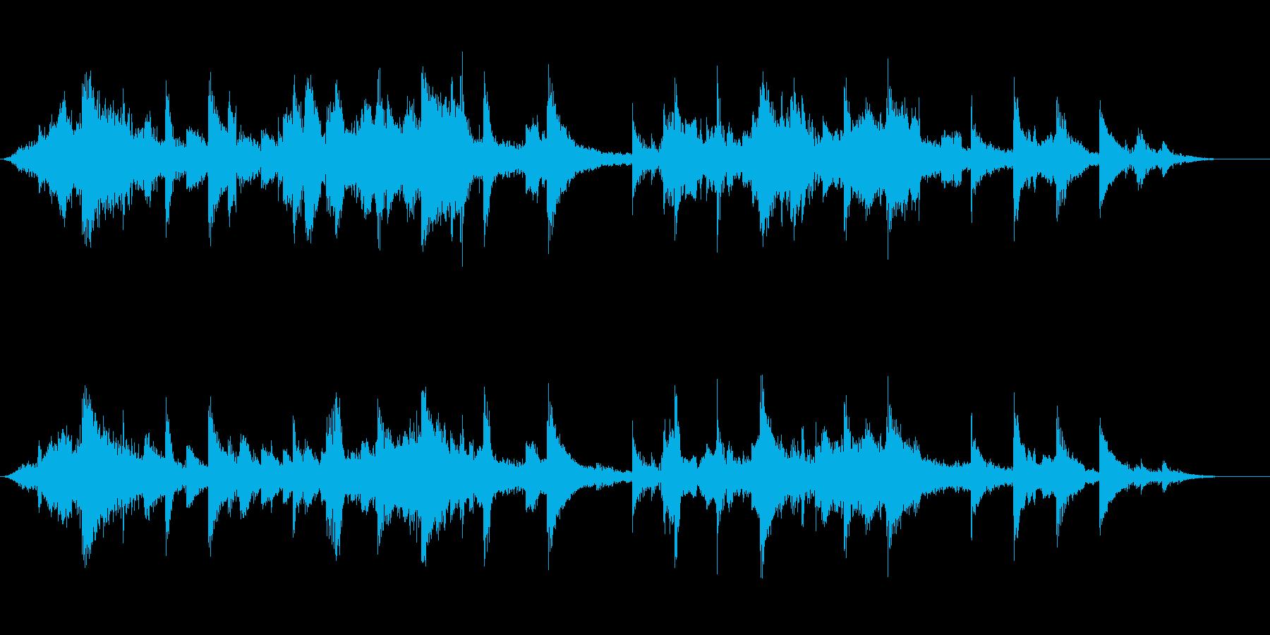 ゆったりとしたジャズの再生済みの波形