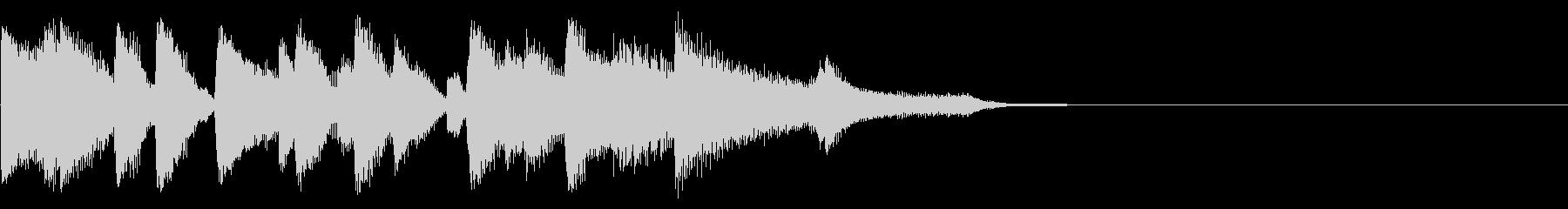 CM前などに ピアノジングル約8秒の未再生の波形