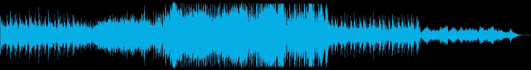 ゆっくりした壮大なオーケストラの曲の再生済みの波形
