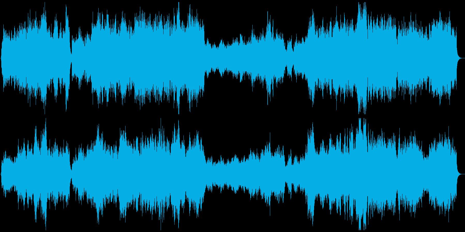 幻想的な物語の始まりを告げる曲の再生済みの波形