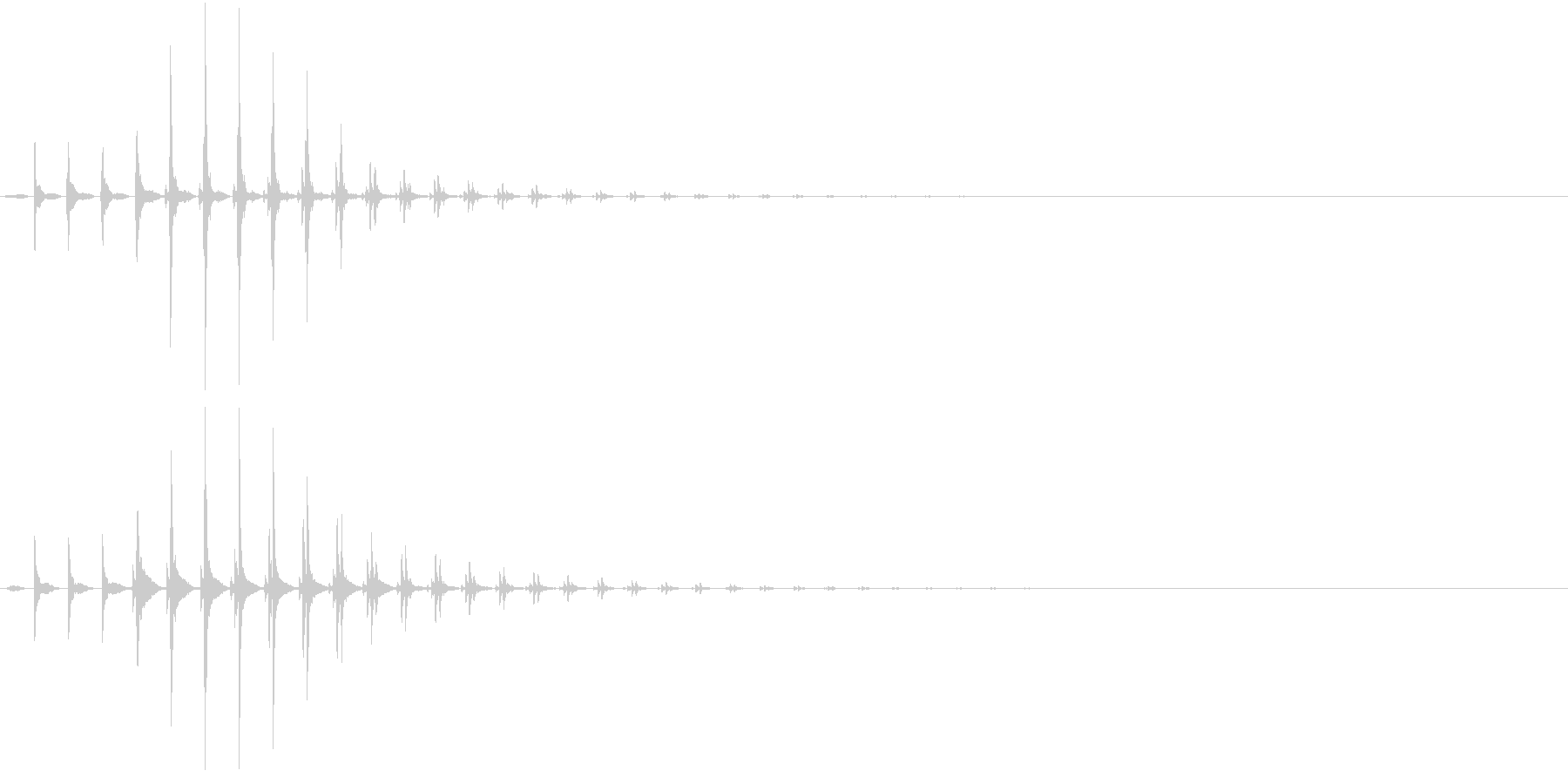 SF CinemaFX 未来の通信音の未再生の波形