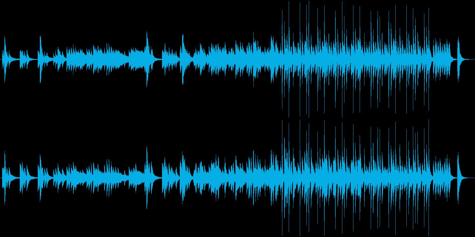 ほのぼのとした日常アニメをイメージした曲の再生済みの波形