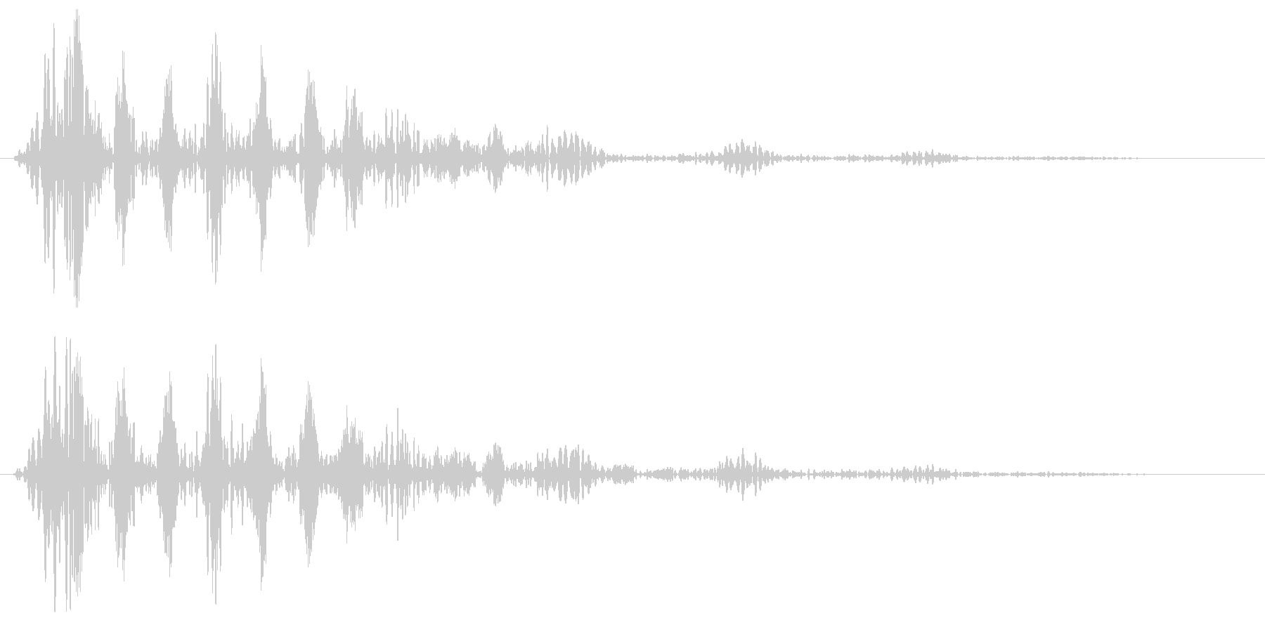 ブ〜〜ン (波形の発射音)の未再生の波形