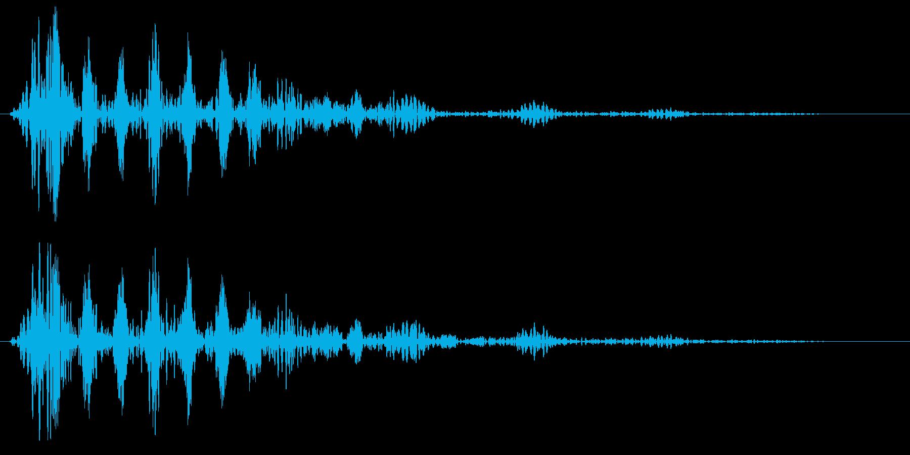 ブ〜〜ン (波形の発射音)の再生済みの波形