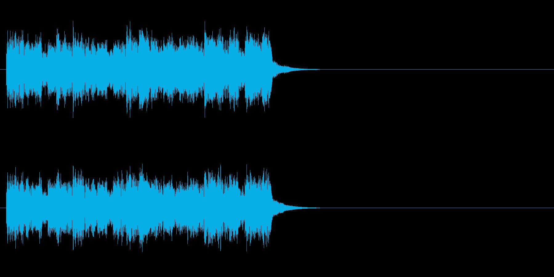 ジングル(豪華絢爛タイプ)の再生済みの波形