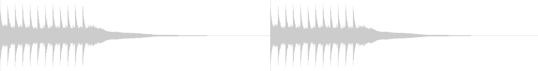 リリリ..。黒電話のベルC(短め)の未再生の波形